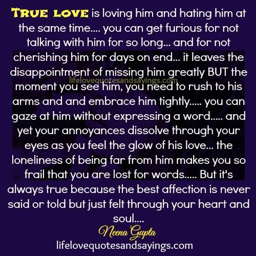 A True Love Quotes : True Love Quotes And Sayings. QuotesGram