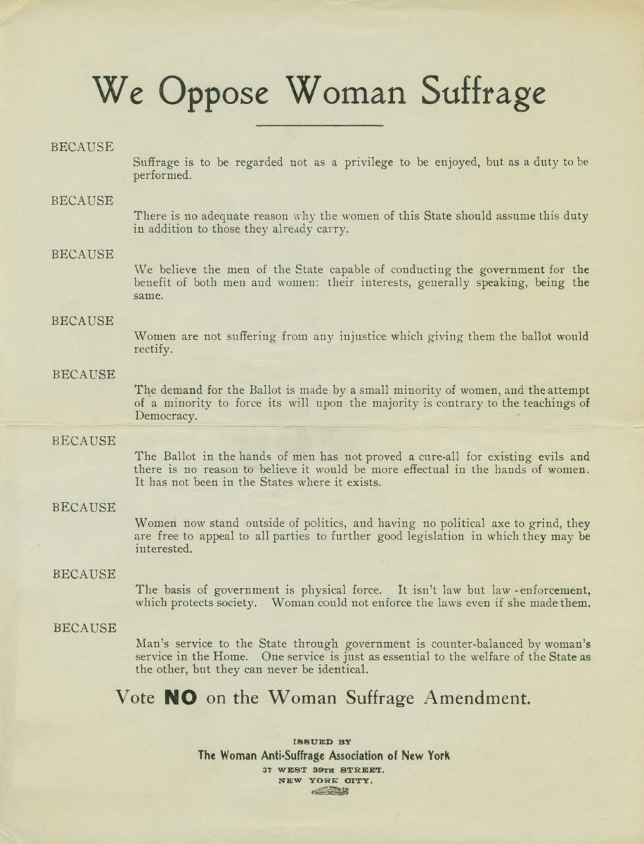 Suffrage Quotes: Anti Womens Suffrage Quotes. QuotesGram