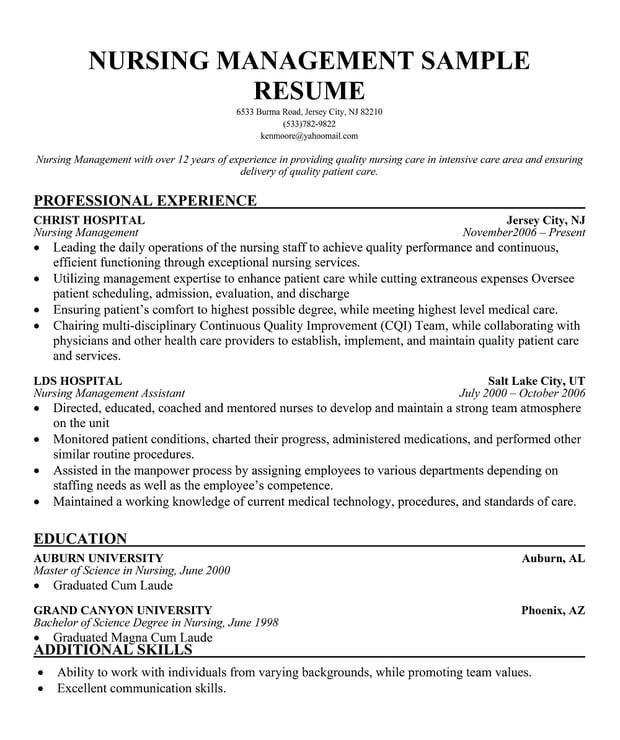 10 Sample Nursing Resumes: Professional Resume Examples Nursing Quotes. QuotesGram