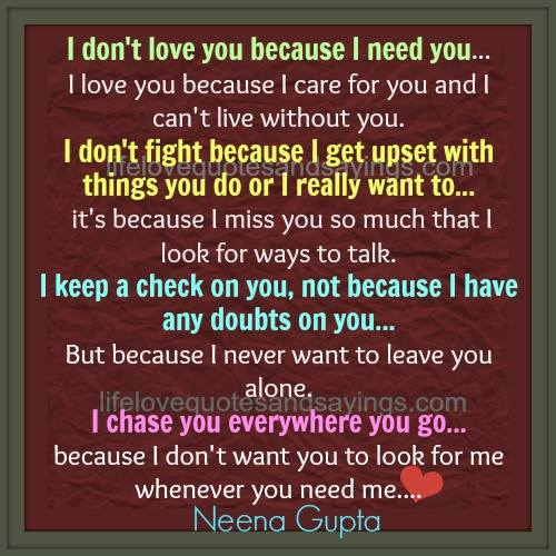 I Need You Quotes Love. QuotesGram
