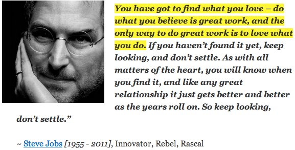 steve jobs achievement Steve jobs didn't just leave a legacy of great products he also shared ideas that continue to inspire and motivate.