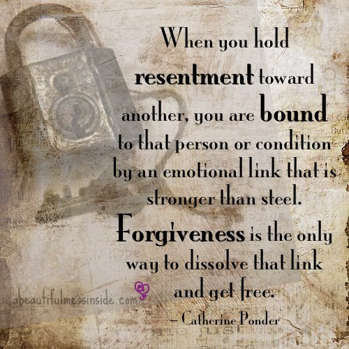 bitterness and resentment in a relationship