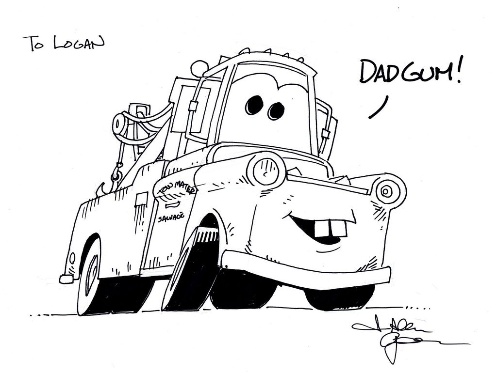 Tow mater quotes to print quotesgram for Coloring pages tow mater