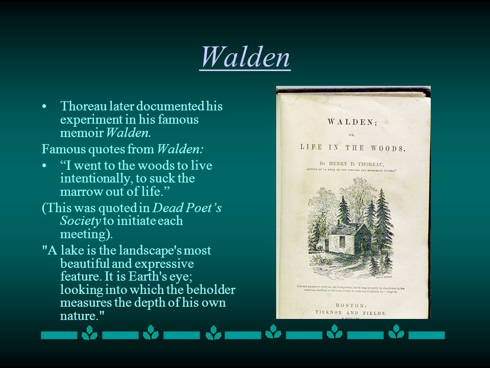 david thoreau walden essay 602 quotes from walden: 'i learned this, at least, by my experiment: that if one advances confidently in the direction of his dreams, and endeavors to li.