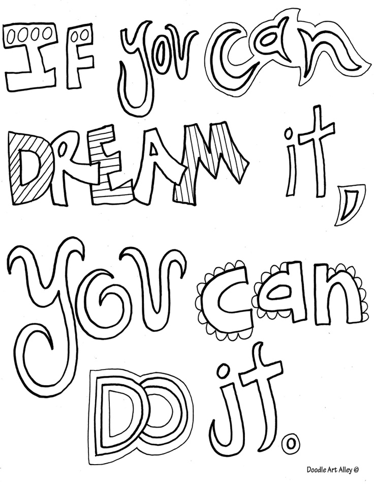 Motivational Quotes Coloring Pages. QuotesGram