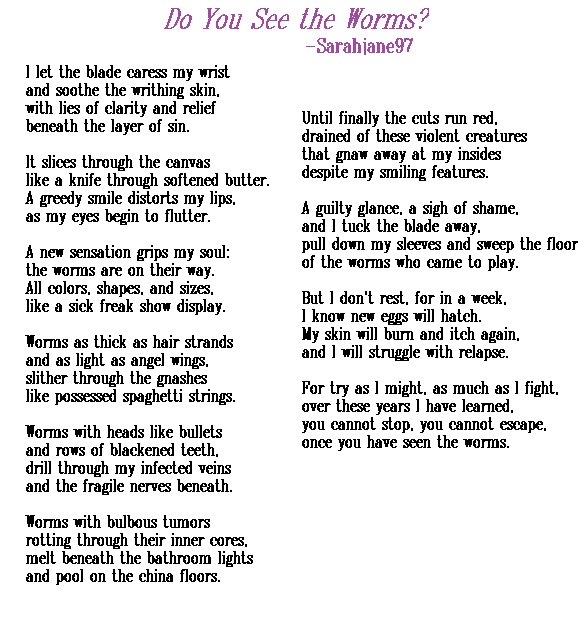 Self harm Poems |Self Harm Poems Quotes