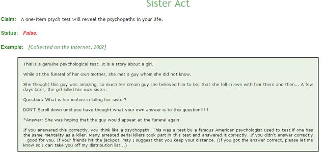 Questions psychopath test Psychopath Test