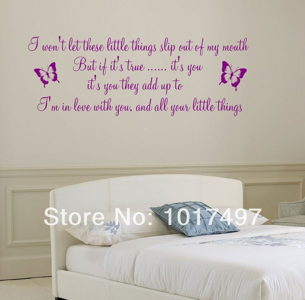 Bedroom Wall Song Quotes