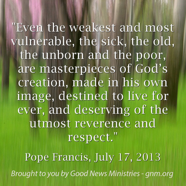 Respecting Life Quotes: Respect Life Of Pope Francis Quotes. QuotesGram