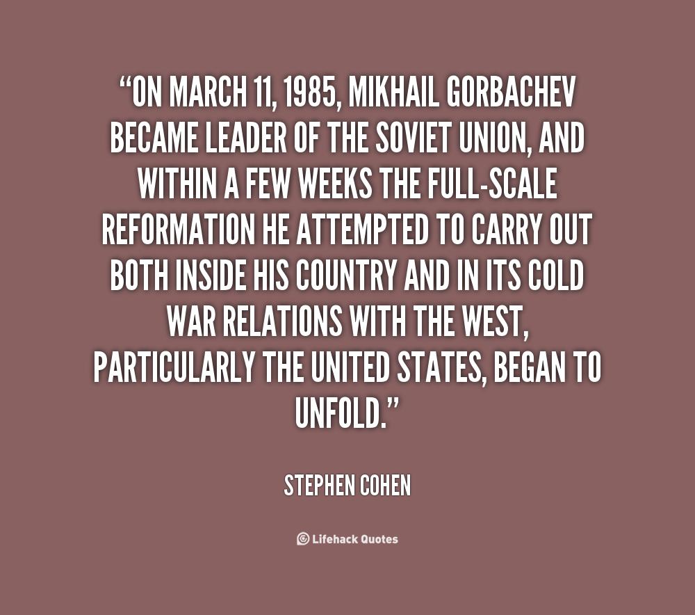 Mikhail Gorbachev Quotes Quotesgram