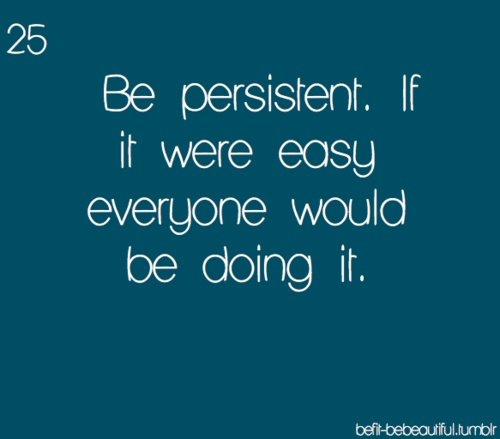 Persistence Motivational Quotes: Be Persistent Quotes. QuotesGram