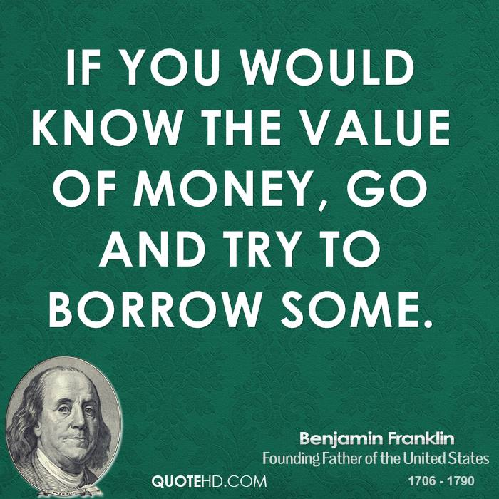 Quotes About Money: Benjamin Franklin Quotes About Money. QuotesGram