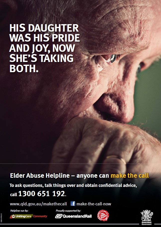 elder financial abuse Elder financial abuse: also known as financial exploitation, involving misappropriation of financial resources by family members, caregivers, or strangers, or the use of financial means to control the person or facilitate other types of abuse.