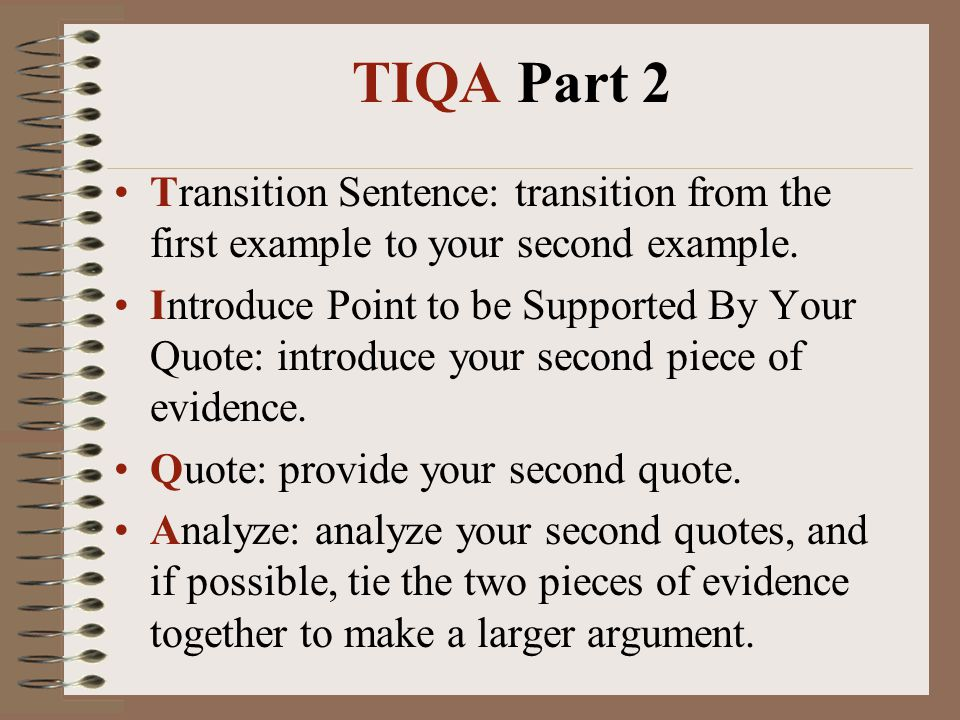 quote transitions for essays Your body paragraphs try to embed quotes into your writing – the first part of your point should be a sentence or two that transitions into your quote.