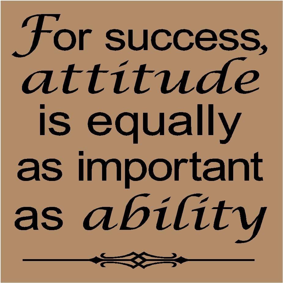 quotes on success and attitude quotesgram
