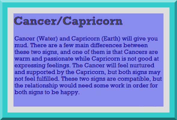 cancer and capricorn in a relationship