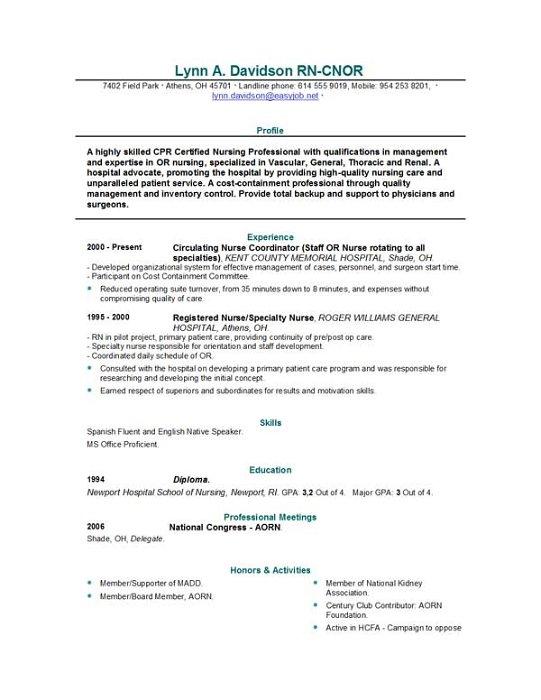 professional resume examples nursing quotes  quotesgram