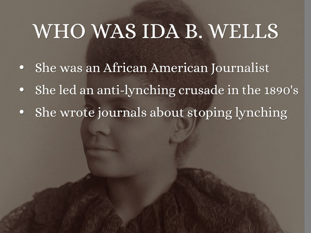 ida wells The latest tweets from ida bae wells (@nhannahjones) reporter @nytmag covering race in the us from 1619-present//aka the beyoncé of journalism//co-founder https.