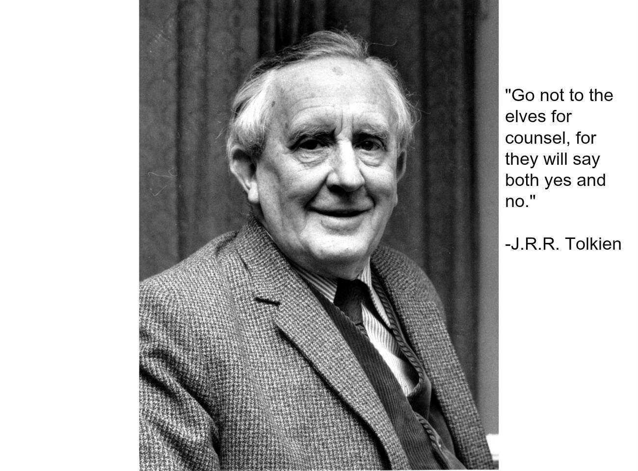J R R J. R. R. Tolkien Quote...