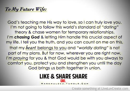 dear future wife quotes - photo #16