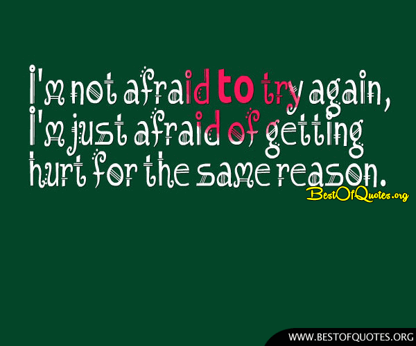 afraid of getting hurt in a relationship quotes