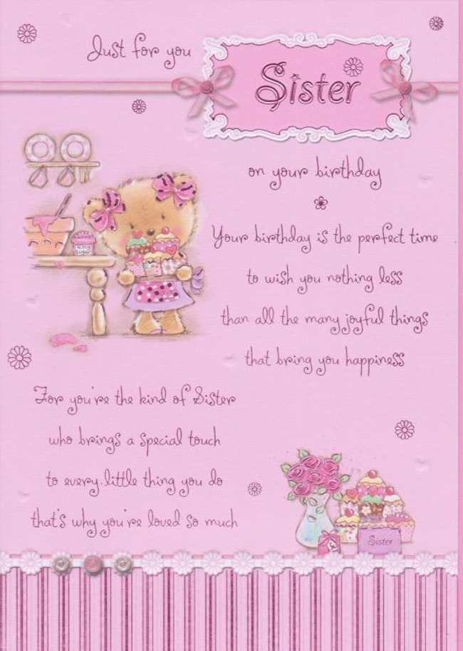 Happy birthday sister poems