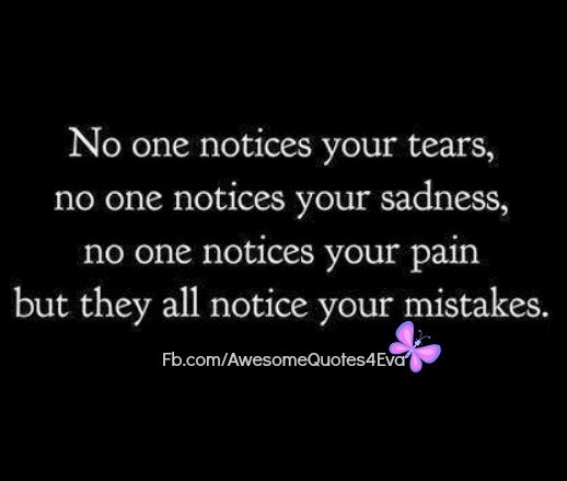 Quotes About People Who Notice: No Tears Quotes. QuotesGram