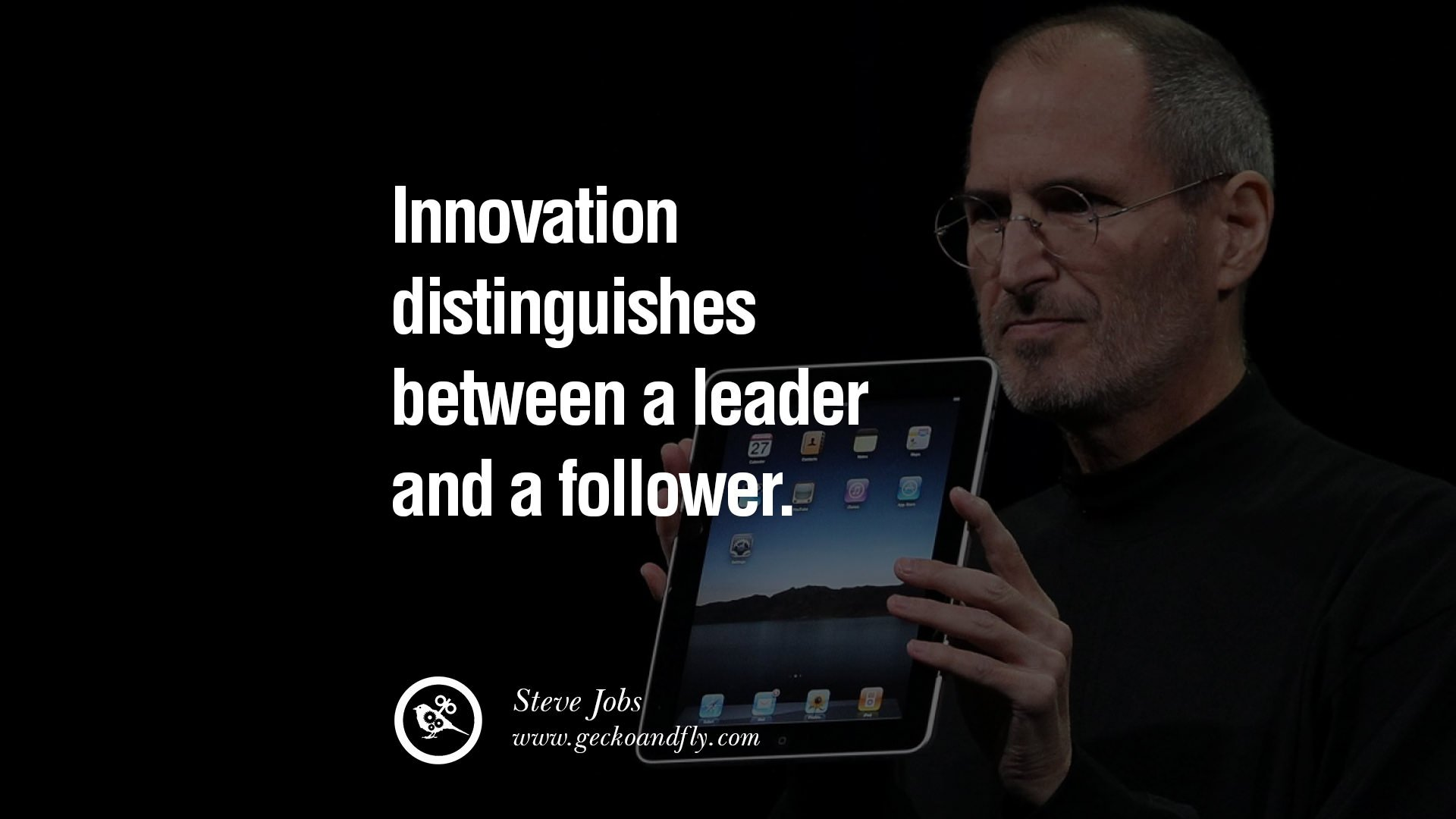 leadership and steve jobs Steve jobs, founder of apple and pixar was an iconic leader who invented the macintosh computer, a pc for the masses he went on to create the music players and mobile phones that everyone loved, and his tiny cellphones were packed with so much processing power, they operated like miniature macs.