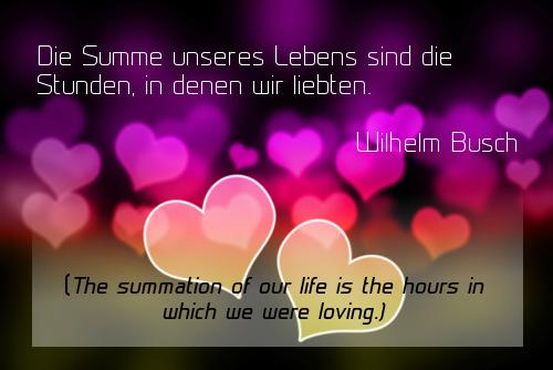 Quotes love deutsch 15 Wonderful