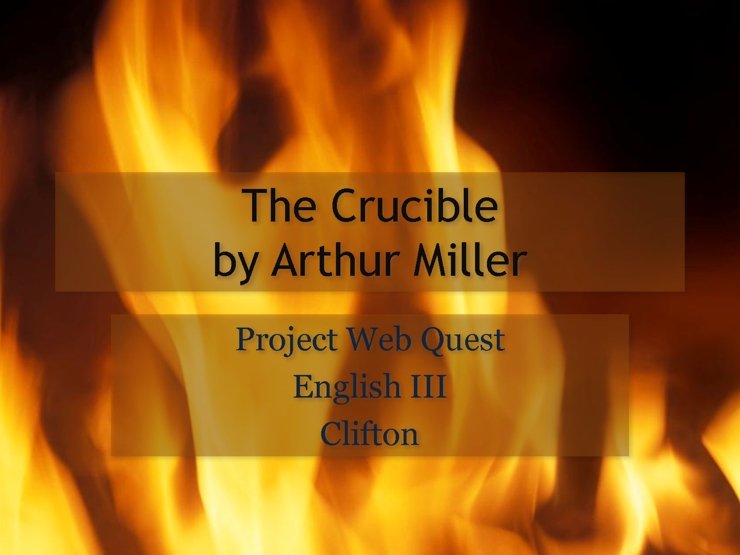 thesis of the crucible by arthur miller The crucible the crucible was a play written in 1953 by arthur miller his play depicted the time of the salem witch-hunts in which many innocent people were killed under the charge of heresy.