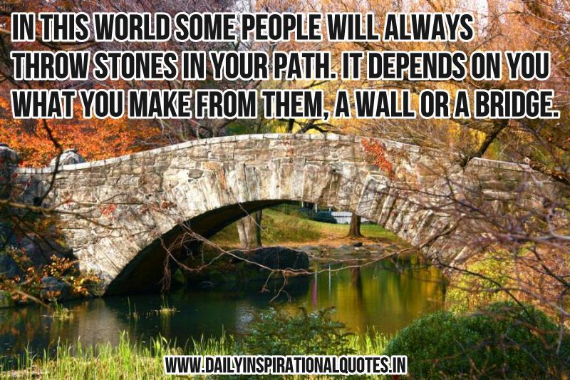 Inspirational Quotes About Bridges. QuotesGram