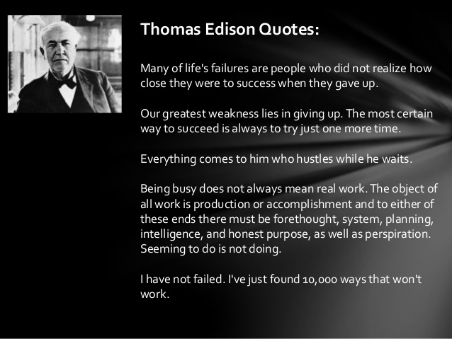 Thomas A. Edison Quotes. QuotesGram