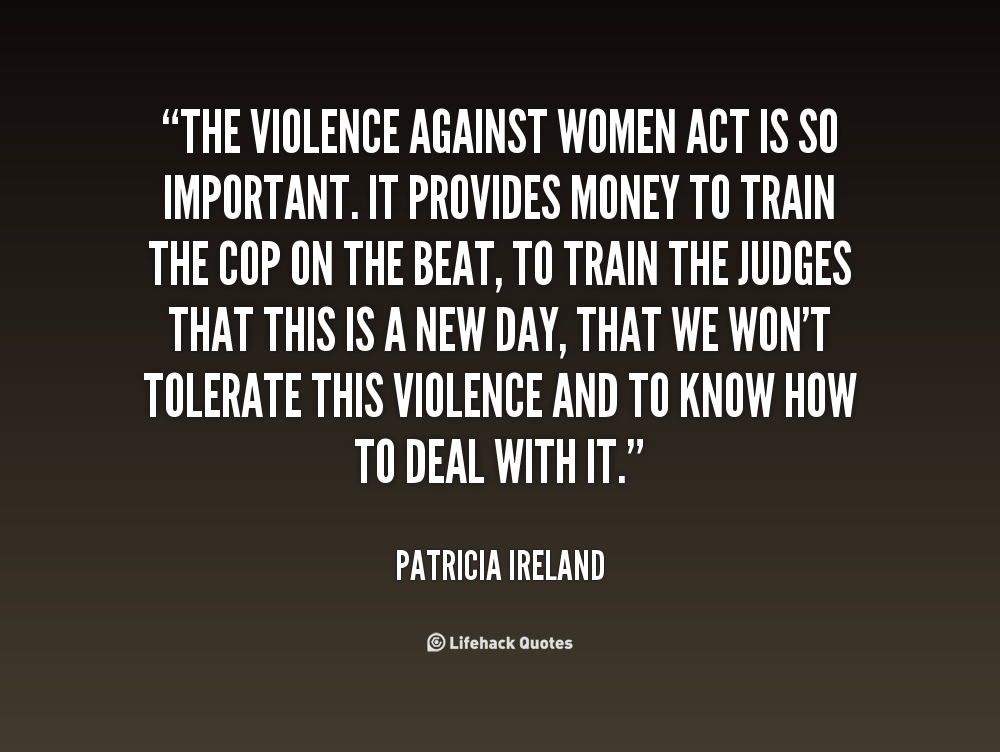 a report on the violence against women act The violence against women act of 1994 (vawa) is a united states federal law   individuals may report incidents to the ulm campus police or the title ix.