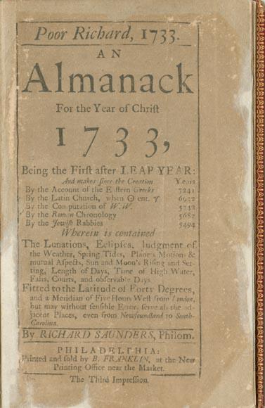 poor richards almanac essay