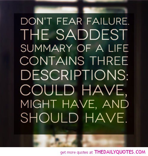 25 Best Failure Quotes On Pinterest: Fear Of Failure Quotes. QuotesGram