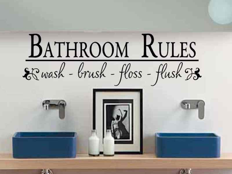 Wall Vinyl Quotes For Bathroom Quotesgram