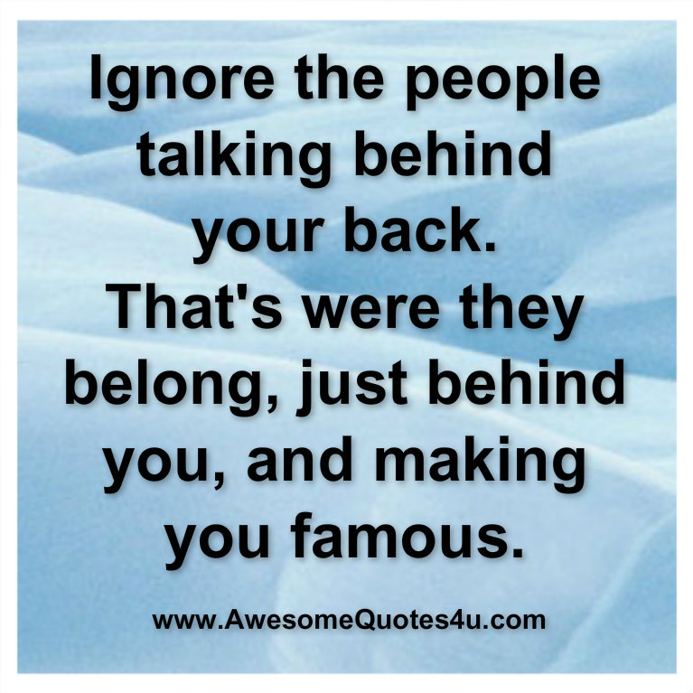 Quotes About Talking To People: Quotes About People Talking Behind Your Back. QuotesGram