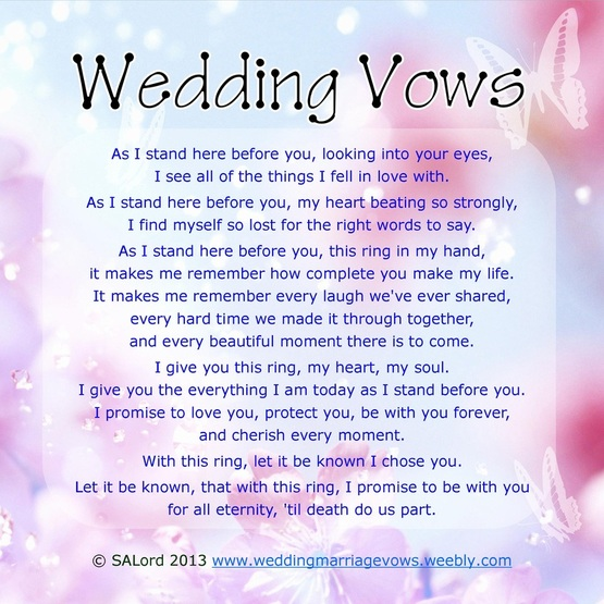 Best Wedding Readings Non Religious: Marriage Vows Quotes. QuotesGram