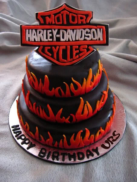 Happy Birthday Harley Davidson Birthday Cakes
