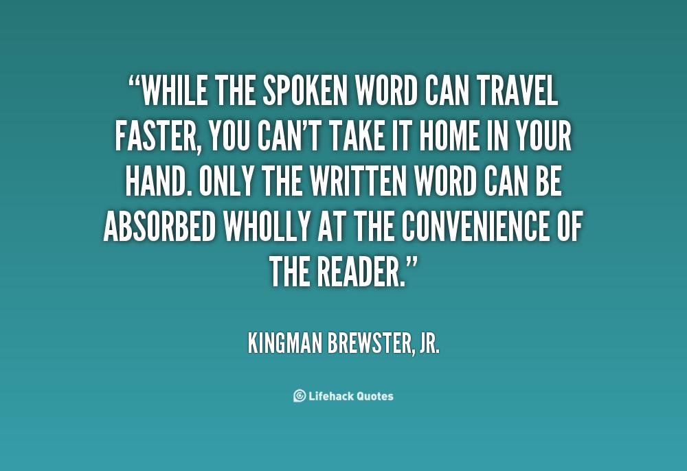 Spoken Quotes Quotesgram