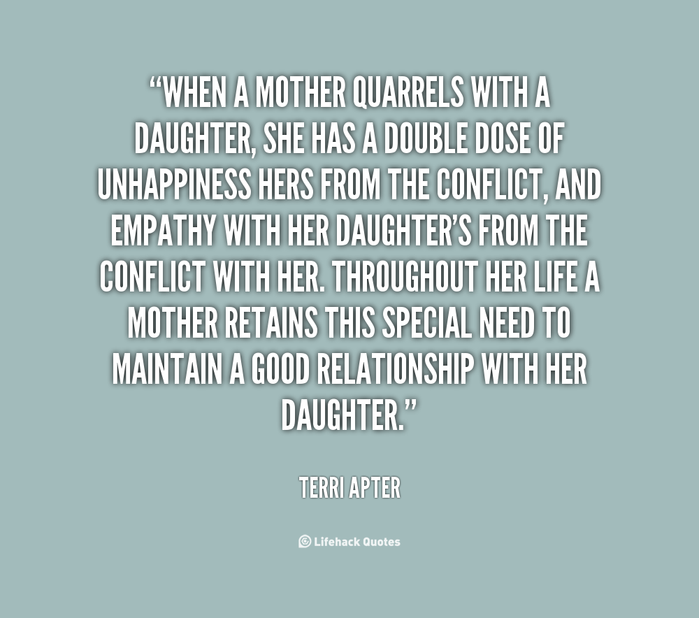 Mom Quotes From Daughter: Sad Mother Daughter Quotes. QuotesGram