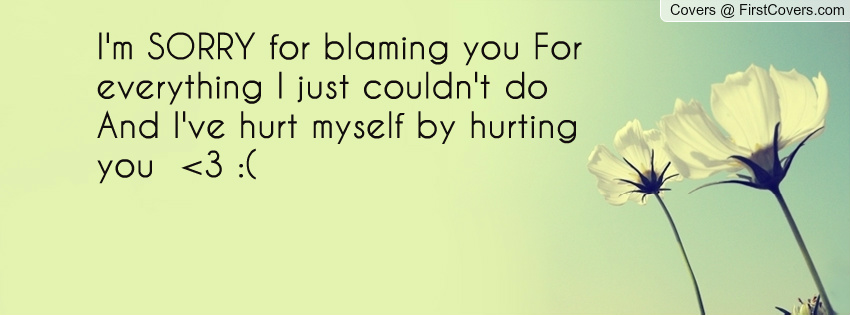 Im Sorry For Hurting You Quotes. QuotesGram