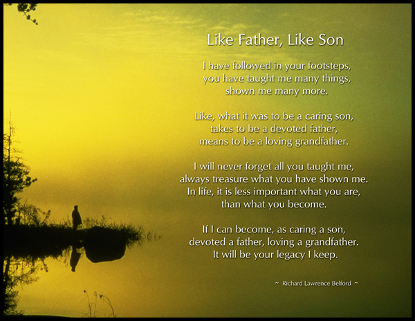 Father and son love poems