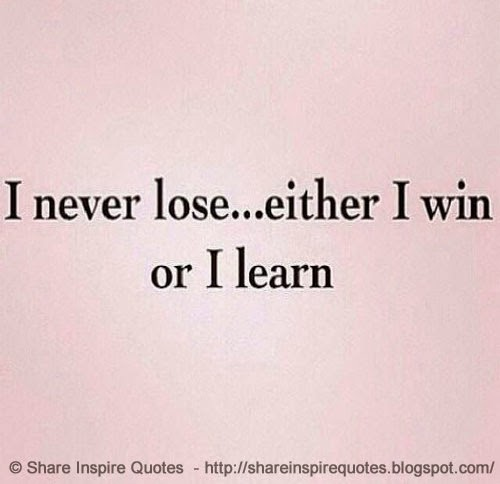 Learning From Losing Quotes. QuotesGram