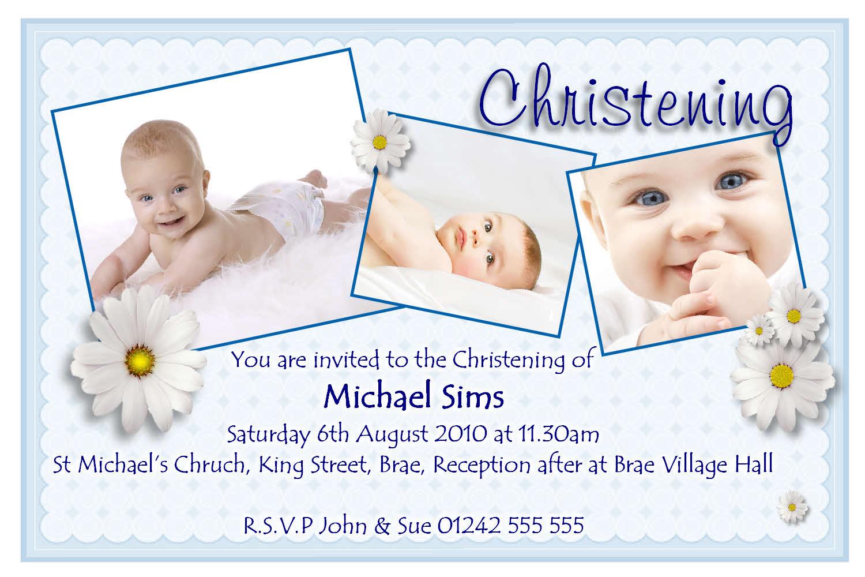 Baptismal Invitation Boy with good invitations ideas