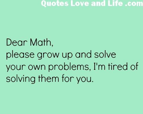 Funny Quotes About Family Issues: Funny Quotes About Math Word Problems. QuotesGram