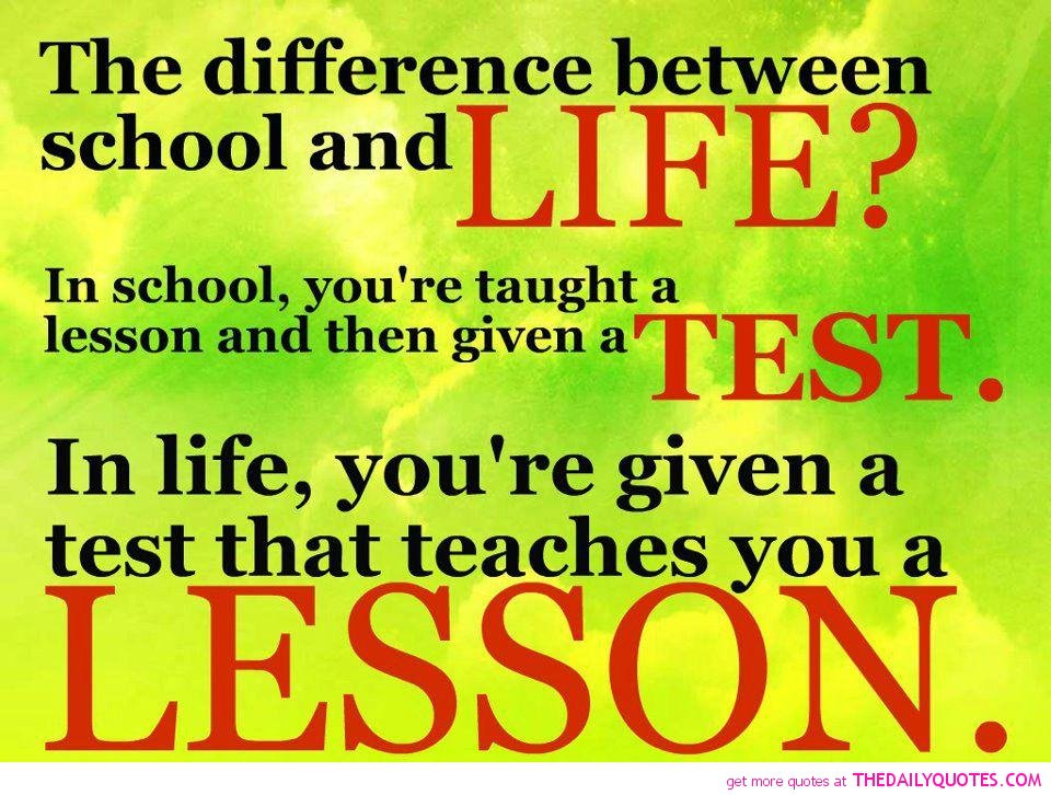 Quotes And Sayings About Life Lessons. QuotesGram