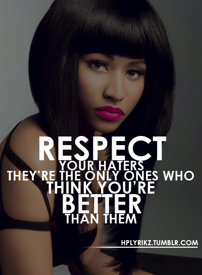 Cute Jealousy Quotes Tumblr: Girl Rap Quotes About Haters. QuotesGram