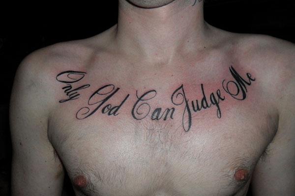 chest script tattoo quotes quotesgram