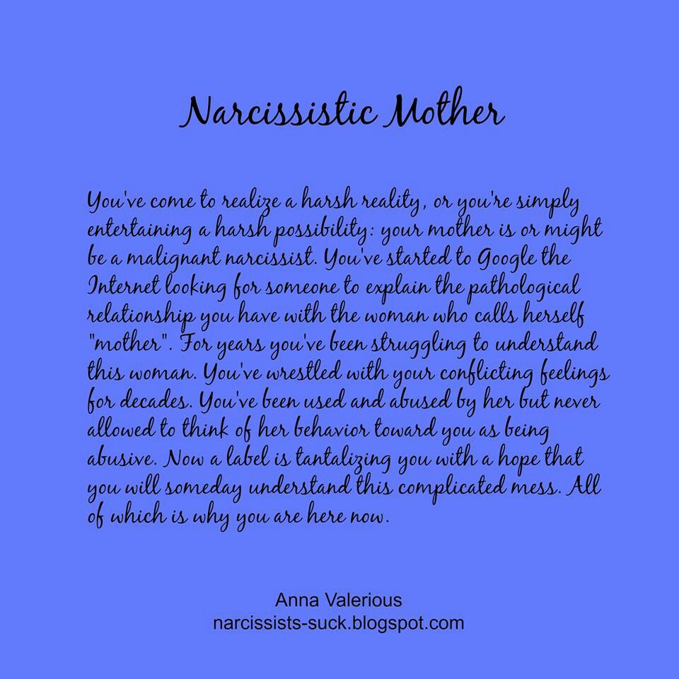 how to leave a narcissist mother